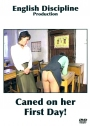 English Discipline Caned on her First Day 80-ger Remastered!